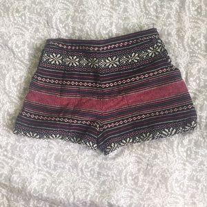 Pants - Bohemian woven shorts